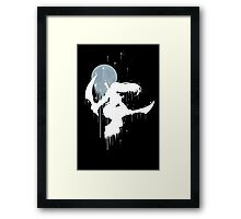 Mercenary Katarina White Ink Framed Print