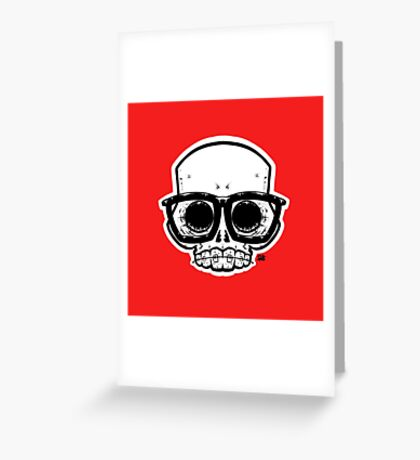 Nerd Skull Greeting Card