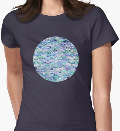 Marble Mosaic in Sapphire and Emerald Womens Fitted T-Shirt