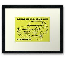 Retro Motor Company - Mk1 Escort Mexico Framed Print