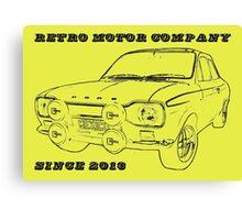 Retro Motor Company - Mk1 Escort Mexico Canvas Print