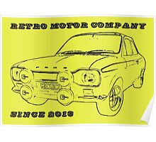 Retro Motor Company - Mk1 Escort Mexico Poster