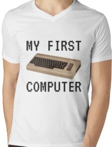 My First Computer - Commodore 64 Mens V-Neck T-Shirt
