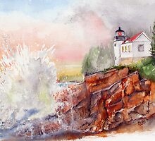 BASS HARBOR LIGHT -  Acadia National Park, Maine by Rob Beilby