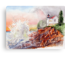 BASS HARBOR LIGHT -  Acadia National Park, Maine Canvas Print