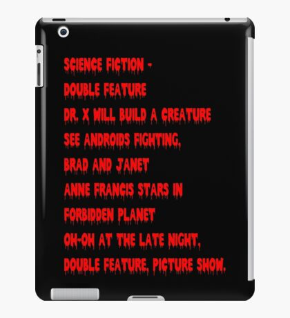 Science Fiction-Double Feature iPad Case/Skin
