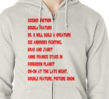 Science Fiction-Double Feature Zipped Hoodie