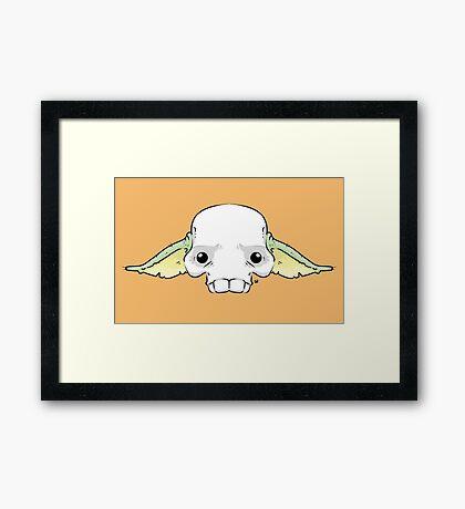 Yoda Skull Framed Print