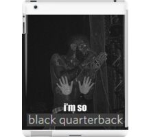 Black Quarterback Death Grips  iPad Case/Skin