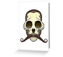 Gentleman Monkey Skull Greeting Card