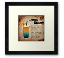 Zombie Cocktail Recipe Framed Print