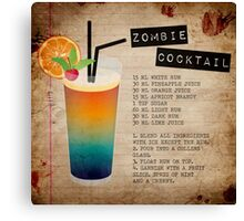 Zombie Cocktail Recipe Canvas Print