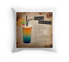Zombie Cocktail Recipe Throw Pillow