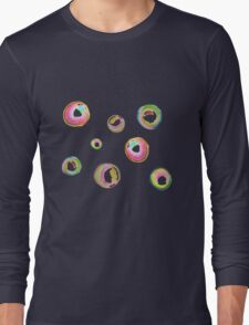 Soapy bubble pattern (pink, green, yellow, blue) Long Sleeve T-Shirt