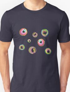 Soapy bubble pattern (pink, green, yellow, blue) Unisex T-Shirt