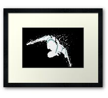 Zed Shadow Black Framed Print
