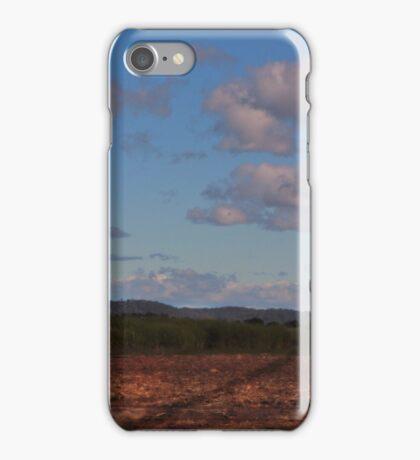 Standing alone in a cane field iPhone Case/Skin