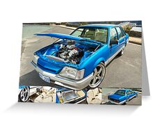 Paul's Holden VK Commodore Greeting Card