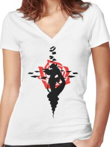 Twisted Fate Rose Women's Fitted V-Neck T-Shirt