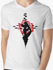 Twisted Fate Rose Mens V-Neck T-Shirt