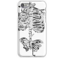 Butterfly Ribs Drawing  iPhone Case/Skin