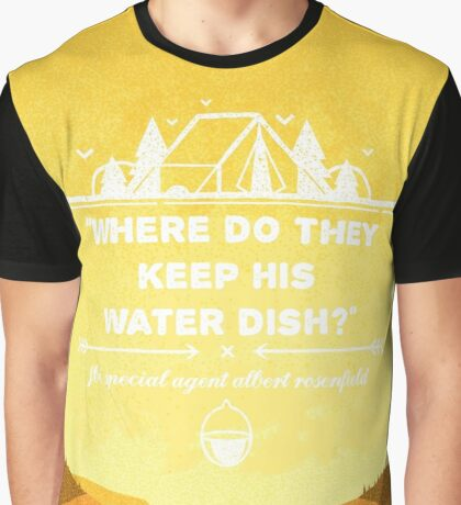 Twin Peaks - Where Do They Keep His Water Dish? Graphic T-Shirt