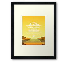 Twin Peaks - Where Do They Keep His Water Dish? Framed Print