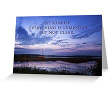 Dawn on The River Greeting Card