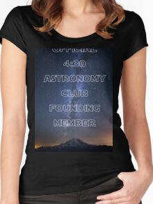 4:30 Astronomy Club Women's Fitted Scoop T-Shirt