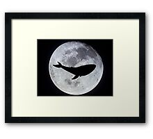 The Whale In The Moon Framed Print