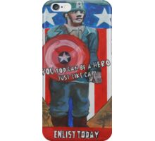 You Too Can Be A Hero Just Like Cap! iPhone Case/Skin