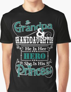 Grandpa and Granddaughter Graphic T-Shirt