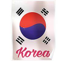 South Korea Vintage travel poster Poster