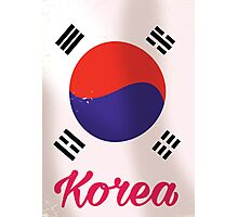South Korea Vintage travel poster Photographic Print
