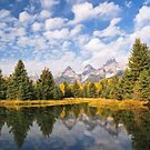The Schwabacher Ponds, Grand Teton by Alex Cassels