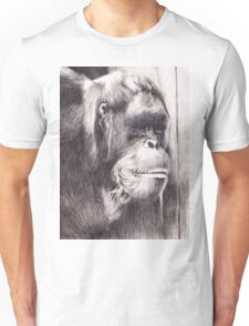Hand drawn watercolor painting of an orangutan Unisex T-Shirt