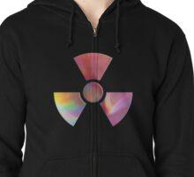 Radiation warning symbol Zipped Hoodie