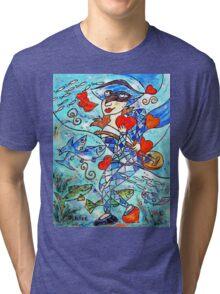 Arlequin aux poissons Tri-blend T-Shirt