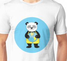 panda kept globe of the planet earth Unisex T-Shirt