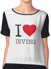 I ♥ DIVING Chiffon Top