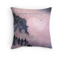 Deception Pass, Washington ~ Oil Painting Throw Pillow