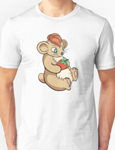 Cute Hamster With Strawberry Unisex T-Shirt