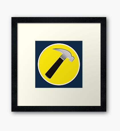 Captain Hammer Framed Print