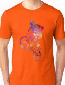 Man bmx acrobatic figure in watercolor Unisex T-Shirt