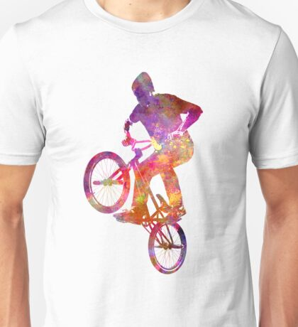 Man bmx acrobatic figure in watercolor Unisex T-Shirt