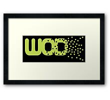 Work out of the day WOD Framed Print