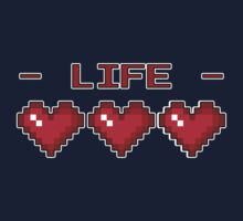 8-Bit Heart Containers (Full) Kids Tee