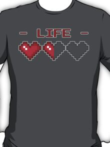8-Bit Heart Containers (Half) T-Shirt