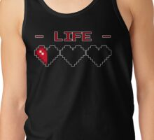 8-Bit Heart Containers (Empty) Tank Top