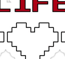 8-Bit Heart Containers (Empty) Sticker